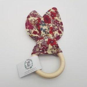 Anneau de dentition fleurs rouges - Truff&Co