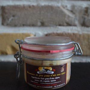 Foie gras d'oie aux cèpes - Traiteur Bernard Bringel