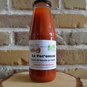 Coulis de tomate basilic - La Potassine