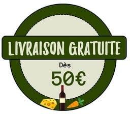 Livraison gratuite dès 50€