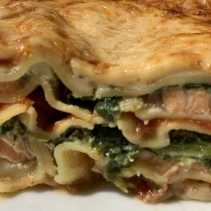 Lasagne saumon épinard - Traiteur Bernard Bringel