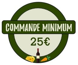 Commande minimum 25€