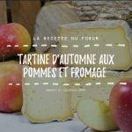 Miniature - Tartine d'automne aux pommes et fromage