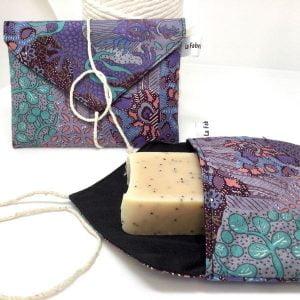 Pochette à savon violette - La Fabrique ZD