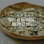 Miniature recette - Tarte au rutabaga, chèvre et miel