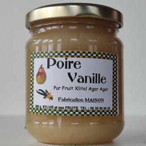 Confiture poire et vanille diabétique - Sylvie et ses fruits