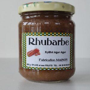 Confiture de rhubarbe diabétique - Sylvie et ses fruits
