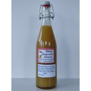 Sirop gingembre ananas - Sylvie et ses fruits