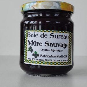 Confiture baie de sureau et mûre sauvage diabétique - Sylvie et ses fruits