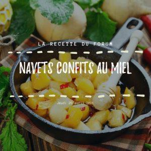 Miniature recette - Navets confits au miel