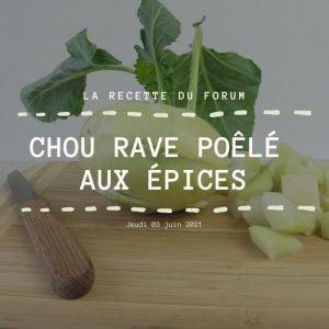 Miniature recette - Chou rave poêlé aux épices