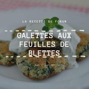Miniature recette - Galettes aux feuilles de blettes
