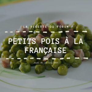 Miniature recette - Petits pois à la française