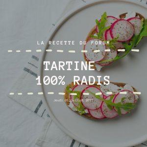 Miniature recette - Tartine 100% radis