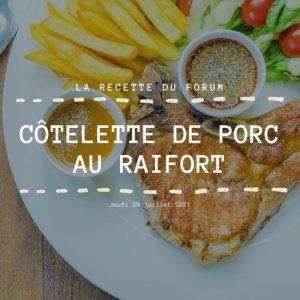 Miniature recette - Côtelette de porc au raifort