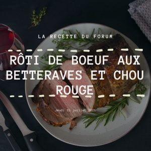 Miniature recette - Rôti de boeuf aux betteraves et chou rouge