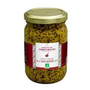 Moutarde à l'ancienne bio - Domaine des Terres Rouges