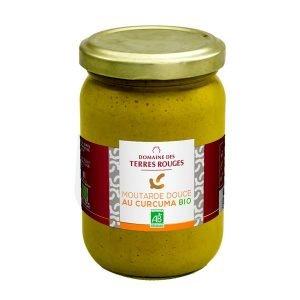 Moutarde douce au curcuma - Domaine des Terres Rouges