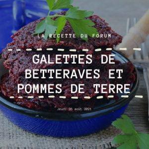 Miniature recette - Galettes de betteraves et pommes de terre