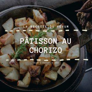 Miniature recette - Pâtisson au chorizo