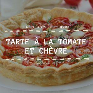 Miniature recette - Tarte à la tomate et chèvre